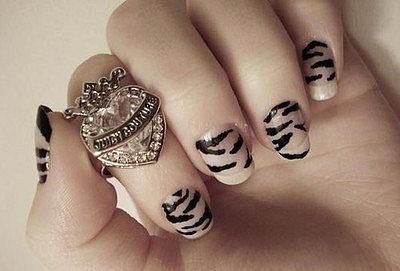 новогодние ногти 2011