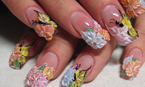лепка на ногтях