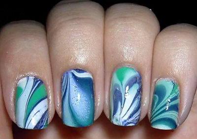 акварельные ногти