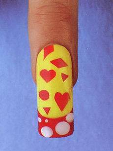 сделать рисунок на ногтях самой