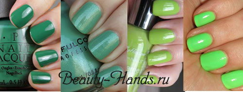 зеленый модный цвет лака 2011