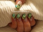 вечерний дизайн ногтей