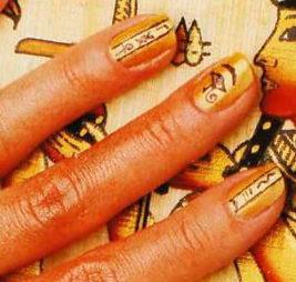 """Дизайн ногтей """"Египетское золото"""""""