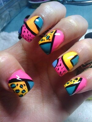 яркий дизайн ногтей фото