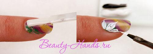 мастер класс по диизайну ногтей цветы
