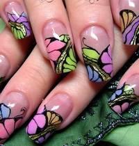 сделать рисунок на ногтях