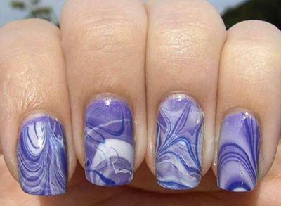 акварельные ногти фото