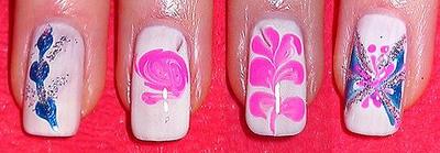 дизайн ногтей в домашних условиях иголкой