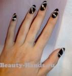 дизайн ногтей под черное платье