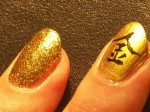ногти с иероглифами фото