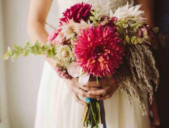 букет ретро на свадьбу