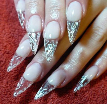 украшение хрустальных ногтей