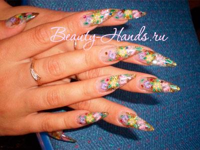 дизайн ногтей с фимо