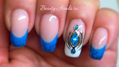 дизайн ногтей жидкие камни