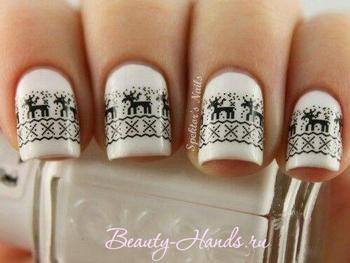 дизайн ногтей новогодние мотивы