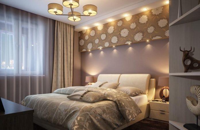 Фото спальни в квартире среднего класса