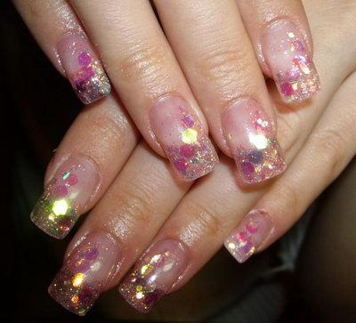 рисунки на хрустальных ногтях