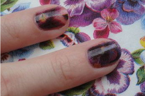 Вариант дизайна ногтей с помощью салфетки || Как сделать ногти из салфеток