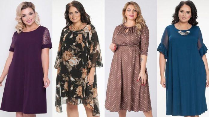 Платья для полных девушек: стильные, молодежные