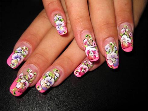 роспись ногтей