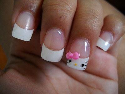 ногти hello kitty