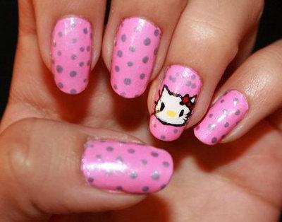 ногти hello kitty фото