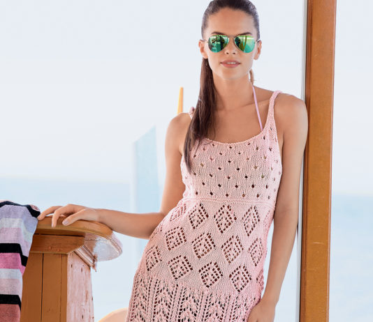 Платья вязаные спицами модные эксклюзив схемы