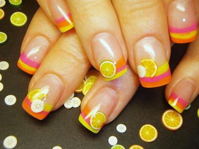 летний дизайн ногтей фимо