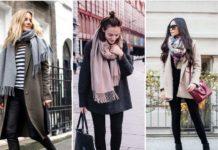 Как правильно надевать шарф