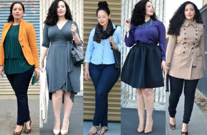 Как красиво одеваться полной девушке и женщине