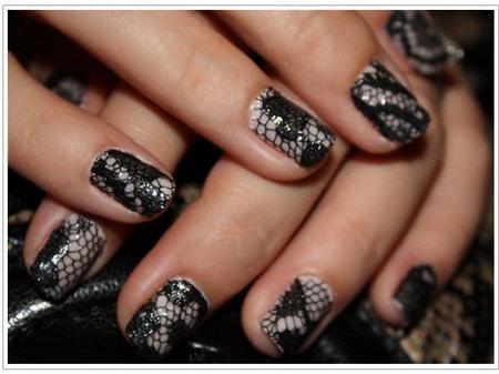 дизайн ногтей кружево фото