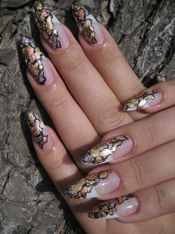 шикарные ногти под змеиную кожу