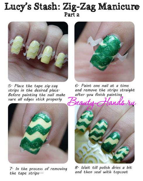 дизайн ногтей из трафаретов