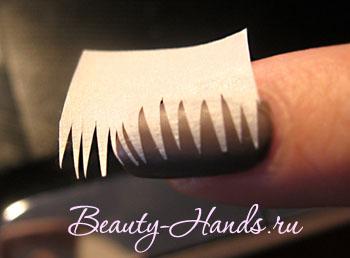 трафарет для дизайна ногтей из скотча