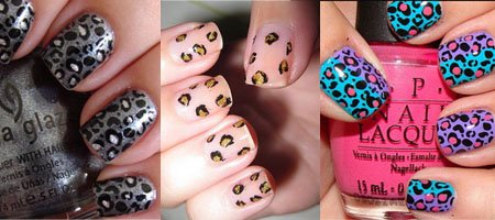 леопардовые ногти фото