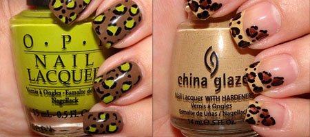 сделать леопардовые ногти