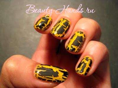 монструозный дизайн ногтей