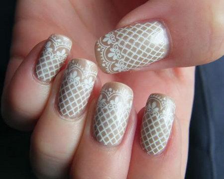 дизайн ногтей с кружевом