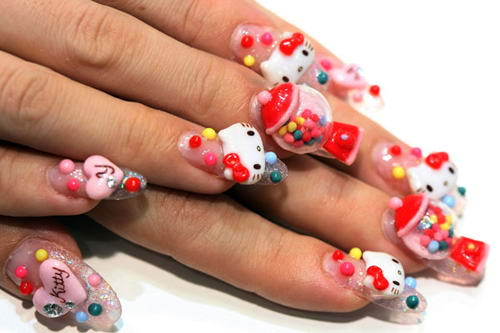 необычные рисунки на ногтях