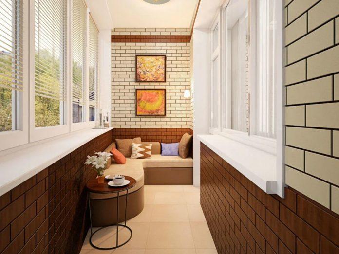 Ремонт балкона: дизайн, фото внутри