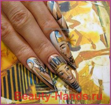 Дизайн ногтей в египетском стиле