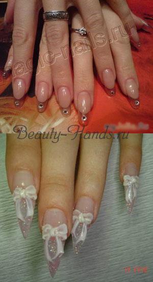 свадебные шикарные ногти