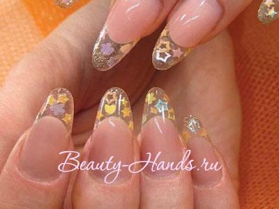 витражный дизайн ногтей